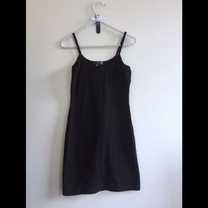 Petite black mini dress